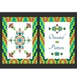 Vertical card with bright tribal ornament vector image vector image