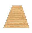 Wooden bridge vector image