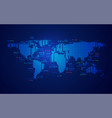 world stock market vector image vector image