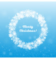 wreath snowflakes new year or christmas frame vector image vector image