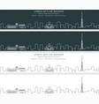 yerevan single line skyline profile banner vector image vector image