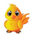 Cartoon Yellow Chicken vector image