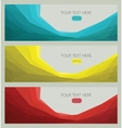 Modern template set abstract background vector image