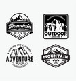 adventure logo badges 5 vector image vector image