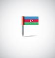 azerbaijan flag pin vector image