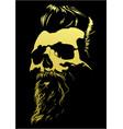 barber skull vector image vector image
