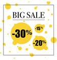 big sale poster vector image vector image