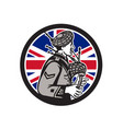 british bagpiper union jack flag icon vector image vector image