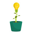 bulb plant design vector image