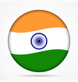 button with waving flag of India vector image vector image
