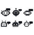 chatbot mobile icons set simple style vector image