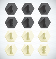Chess Piece Dimensional Icons vector image