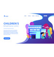 children rehabilitation center concept landing vector image vector image