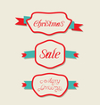 Christmas set variation vintage labels with text vector image vector image