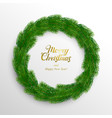 christmas wreath fir branches vector image