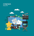 cinema industry flat style design vector image vector image