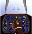 Cockpit vector image vector image