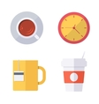 Coffee break or tea time icons vector image