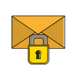 color letter text message with padlock security vector image vector image