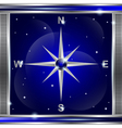 Compass background vector image vector image