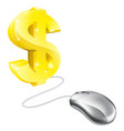 computer mouse dollar concept vector image vector image