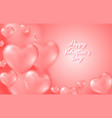 coral valentine s day background with tender 3d vector image vector image