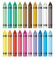 crayon selection vector image vector image