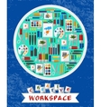 Creative and artistic workspace vector image