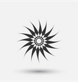 creative icon - sun decorative element vector image