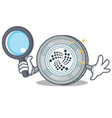 detective iota coin character cartoon vector image