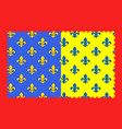 flag of saint-flour in cantal of vector image vector image