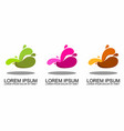 flat geometric liquid shapes with various colors vector image vector image