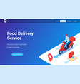 food delivery 3d template vector image