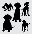 funny and cute dog silhouette vector image vector image