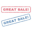 great sale exclamation textile stamps vector image