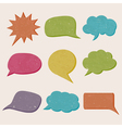 grungy speech bubbles vector image