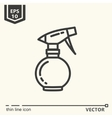 Hairdressing tools Icons series Spray bottle vector image vector image