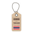 hang tag made in thailand with flag icon isolated vector image