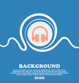 Headphones Earphones sign icon Blue and white vector image