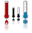 Hot and cold temperatures vector image