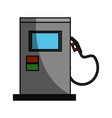 isolated gas station machine vector image vector image