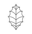 leaf christmas decoration icon vector image