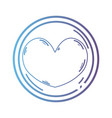 line heart emblem to love and romantic symbol vector image vector image