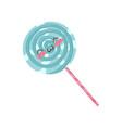 lollipop cute kawaii food cartoon character vector image