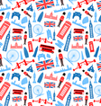 london england seamless pattern vector image