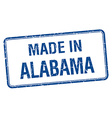 made in Alabama blue square isolated stamp vector image vector image
