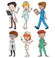 Medical professionals vector image vector image