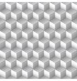 monochrome cube seamless pattern vector image vector image