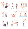 parties and people celebrate different events vector image
