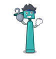 pirate otoscope character cartoon style vector image